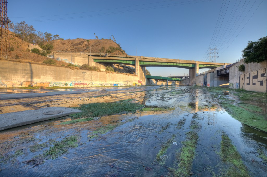 110/5 Intersection Bridges In LA River