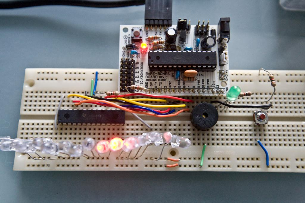 Bare Bones Arduino and TLC5940 On Breadboard