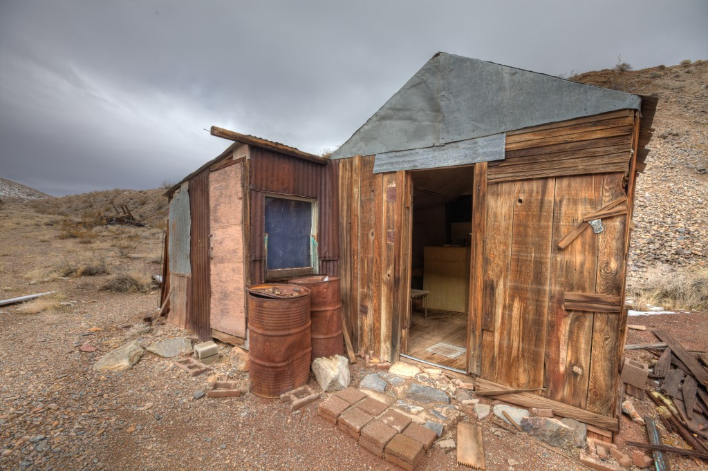 Cabin at Tucki Mine in Death Valley