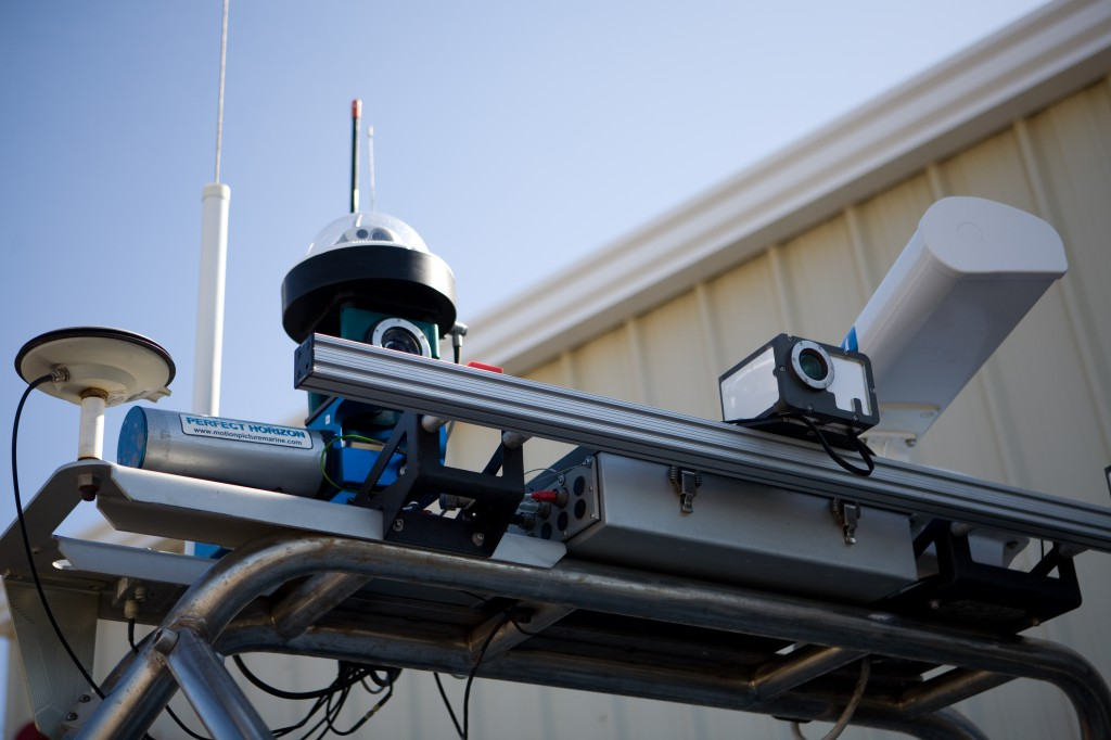 Cameras, Radar, GPS and Antennas on SPAWAR USV