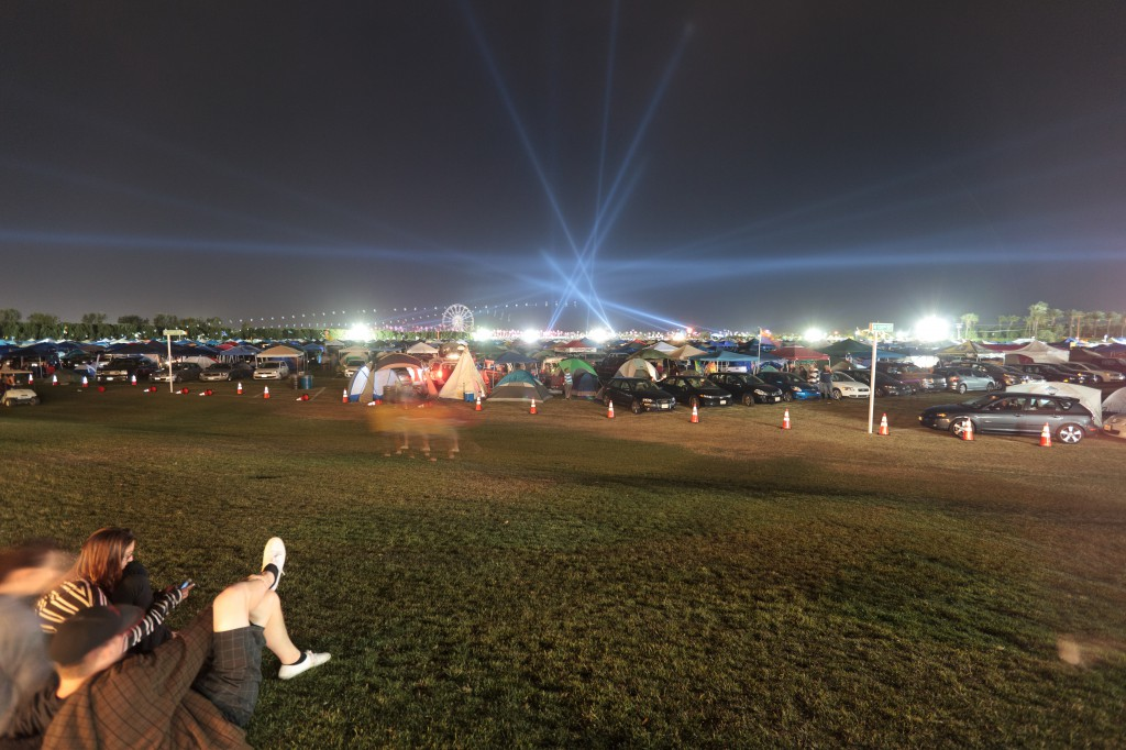Coachella Car Campground at Night