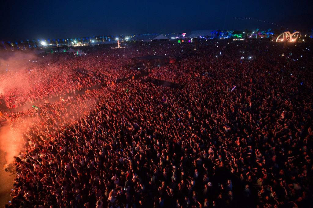 Coachella Crowd from the Lift