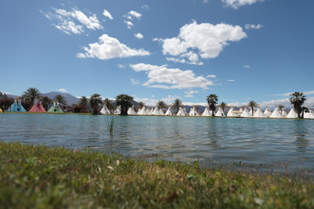 Coachella Teepee Camping at Lake El Dorado