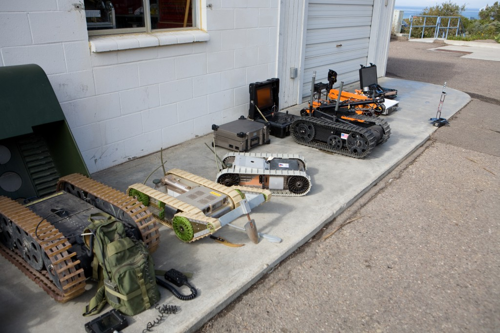 Collection of Military Robots at SPAWAR