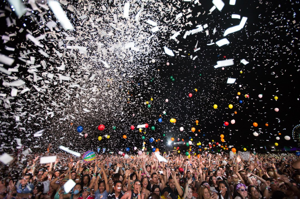 Confetti and Crowd at Coachella