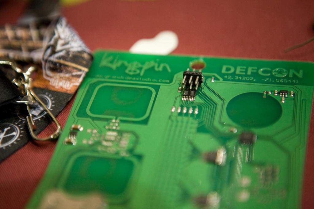Defcon Badge with Soldered on Connector