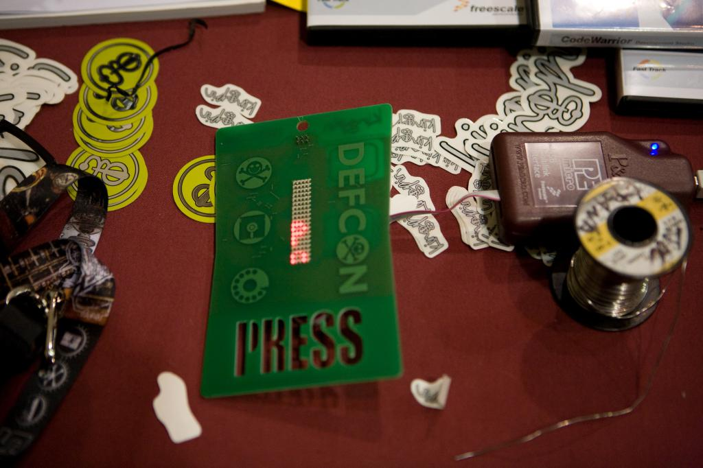 Defcon Press Badge