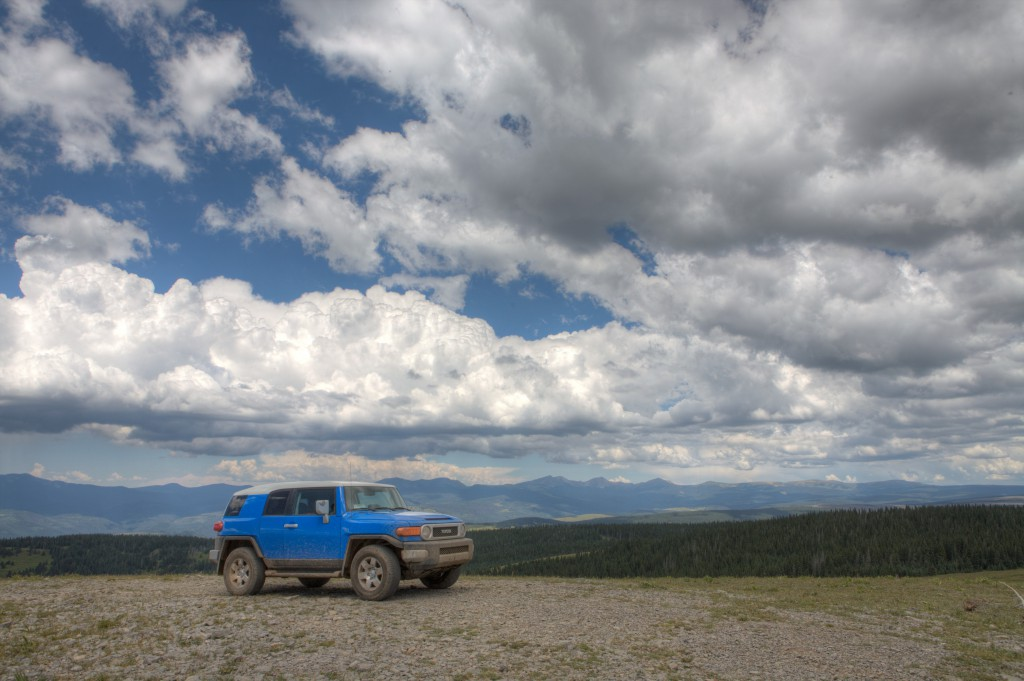 FJ Cruiser atop Elk Mountain