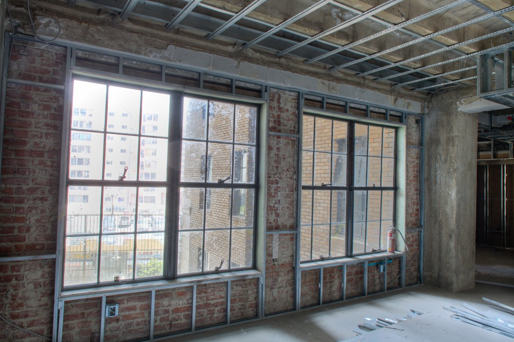 Framing Over Brick and Ceiling