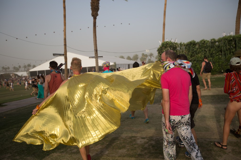 Golden Cape at Coachella