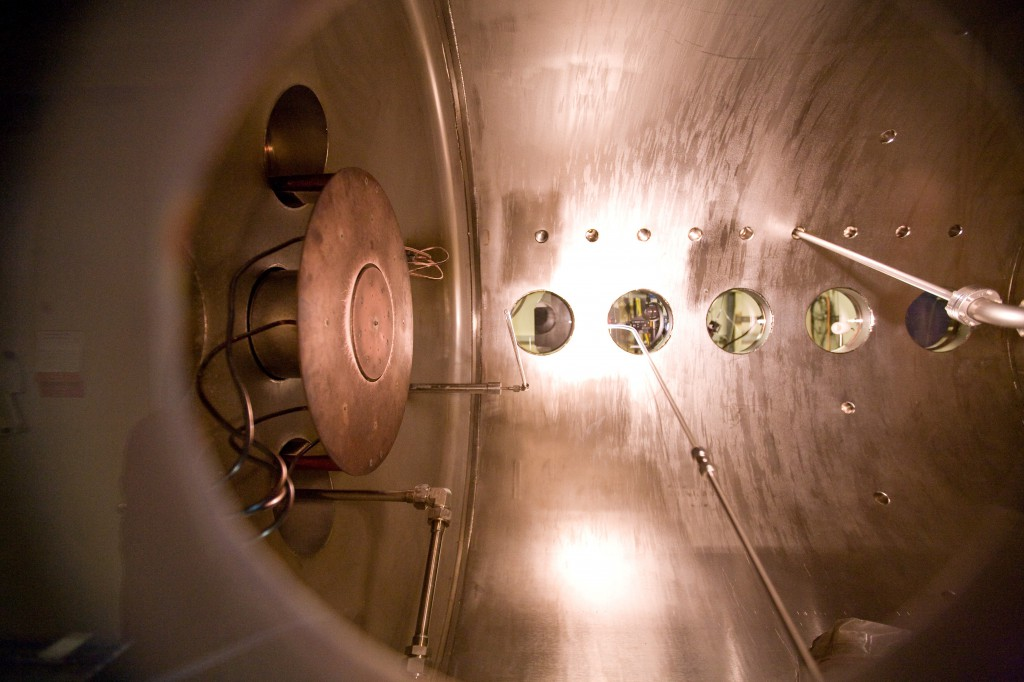 Inside the Plasma Vacuum Chamber