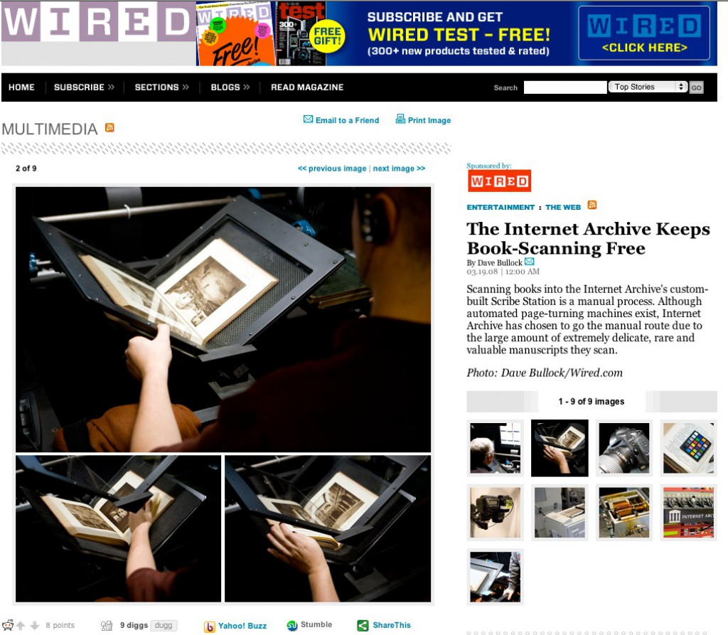 Internet Archive on WIRED News