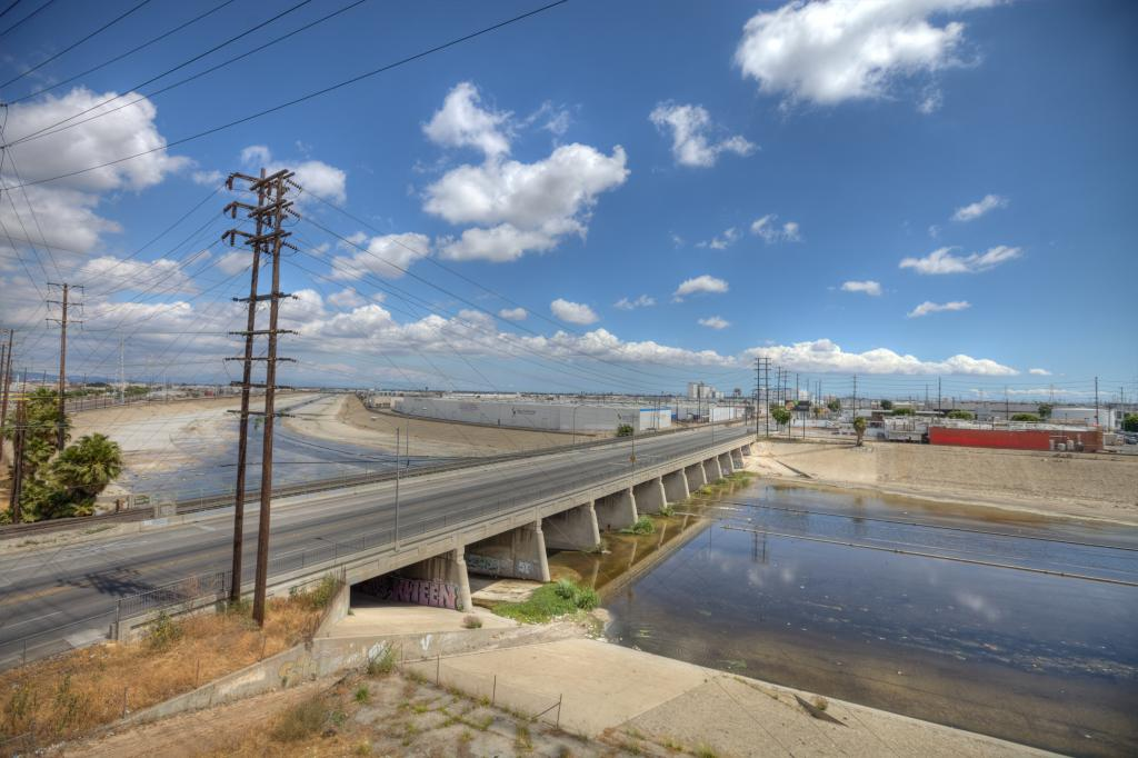 LA River and Power Lines