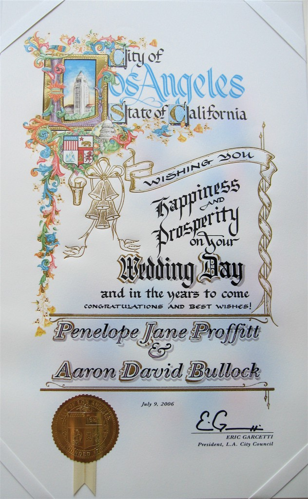 LA Wedding Card
