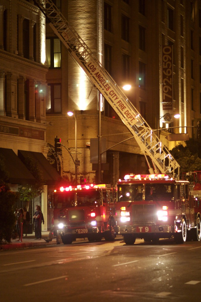 LAFD E209 and T9 Ladder Truck