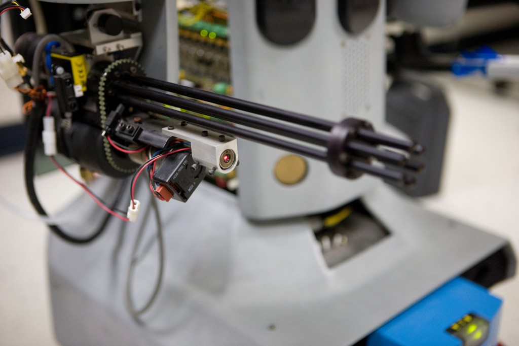 Laser Guided Chain Gun on Development Robot
