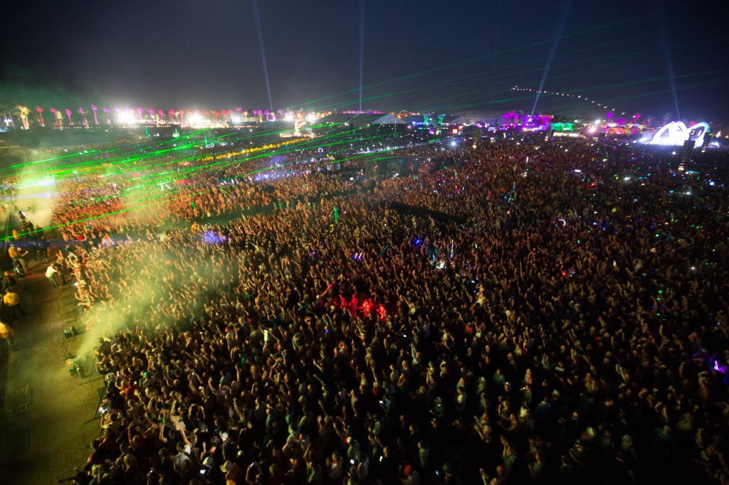 Lasers and Crowd at Coachella