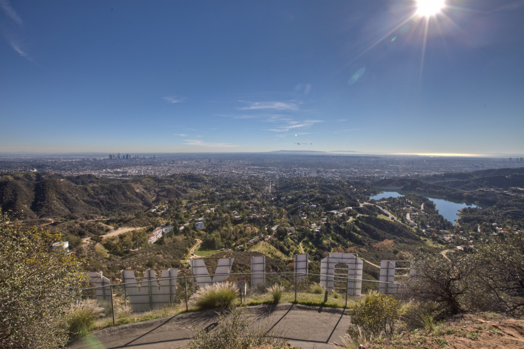 Los Angeles From The Hollywood Sign