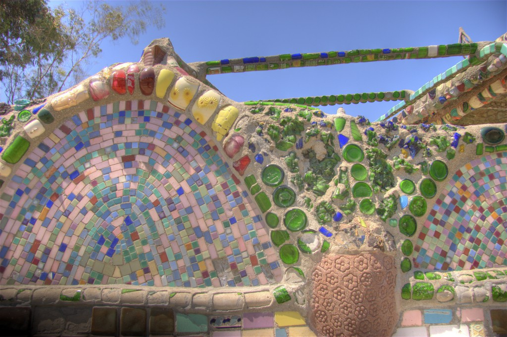Mosaic of Tile and Bottles