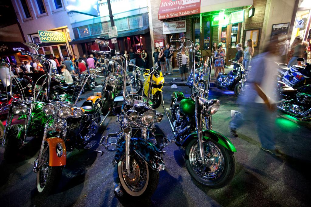 Motorcyles at ROT Biker Rally