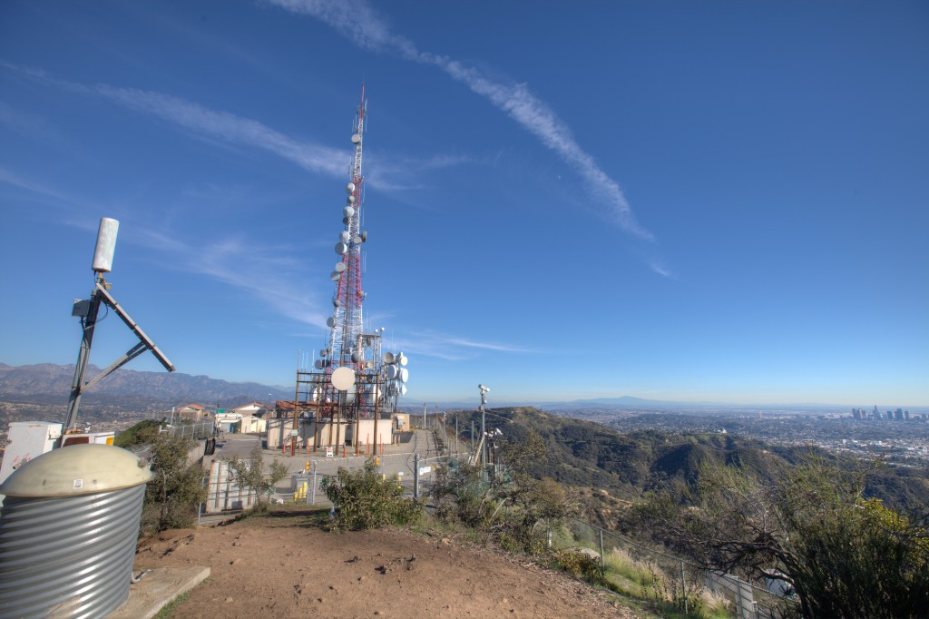 Mt. Lee Antennas and Downtown Los Angeles