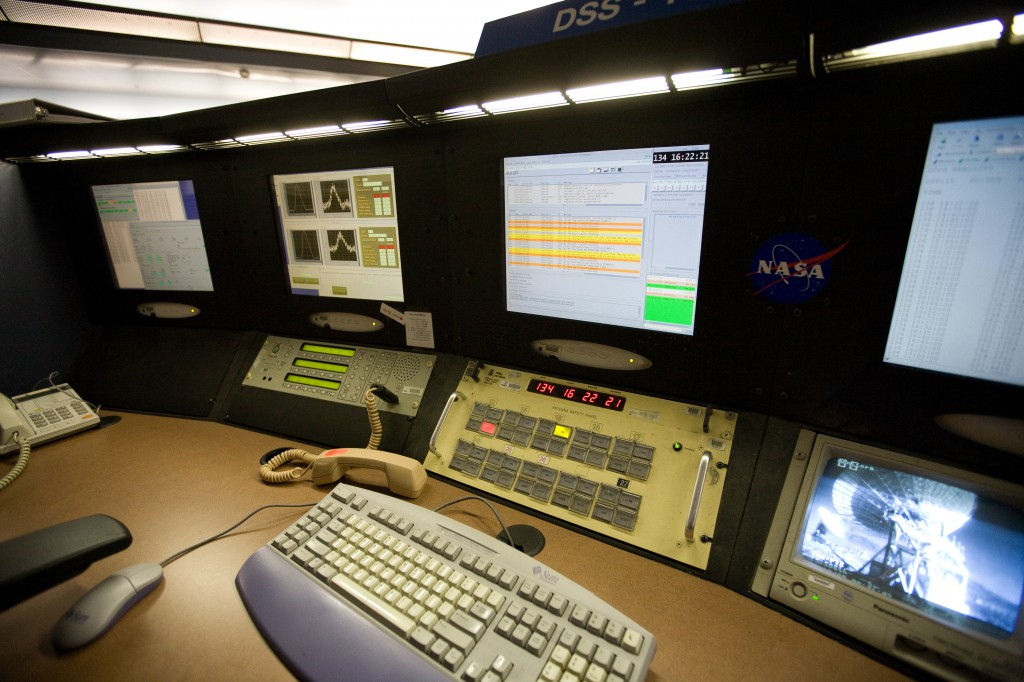 NASA Goldstone Mission Control