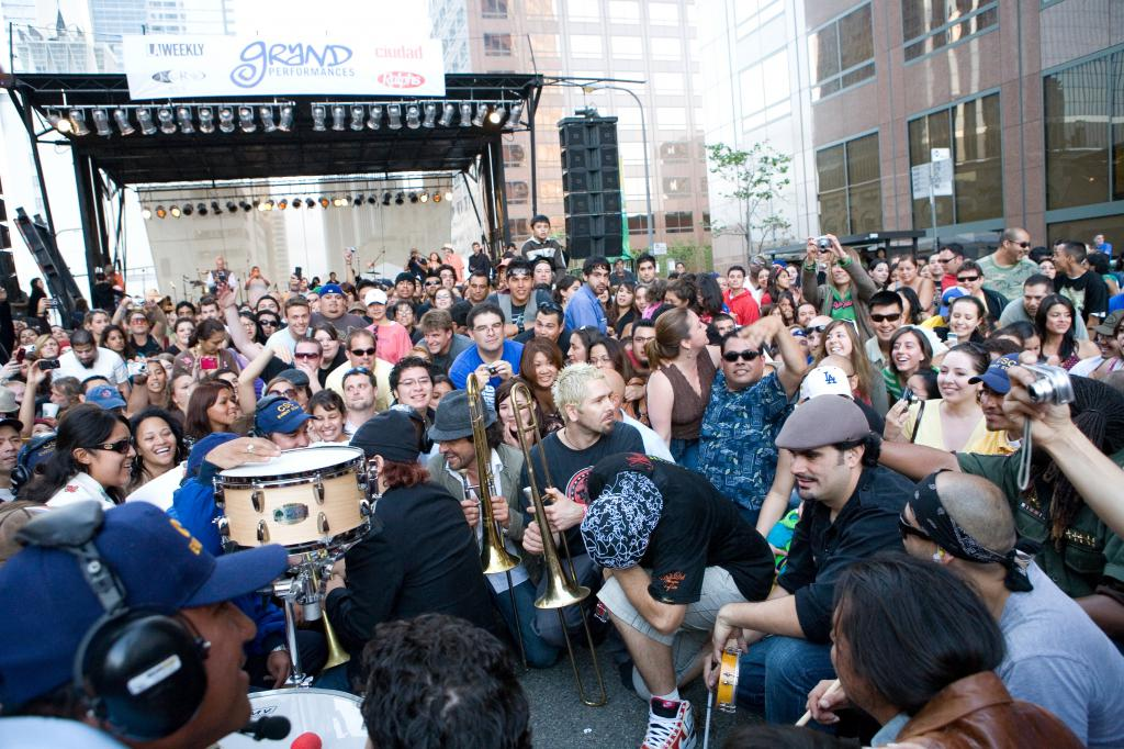Ozomatli in the Crowd