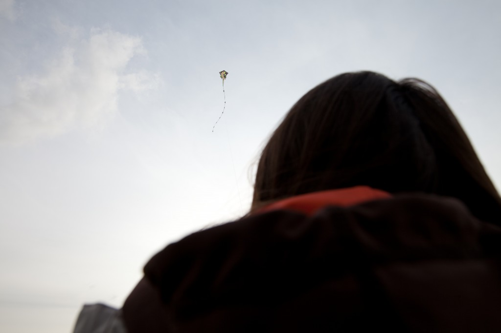 Penelope Flying a Kite