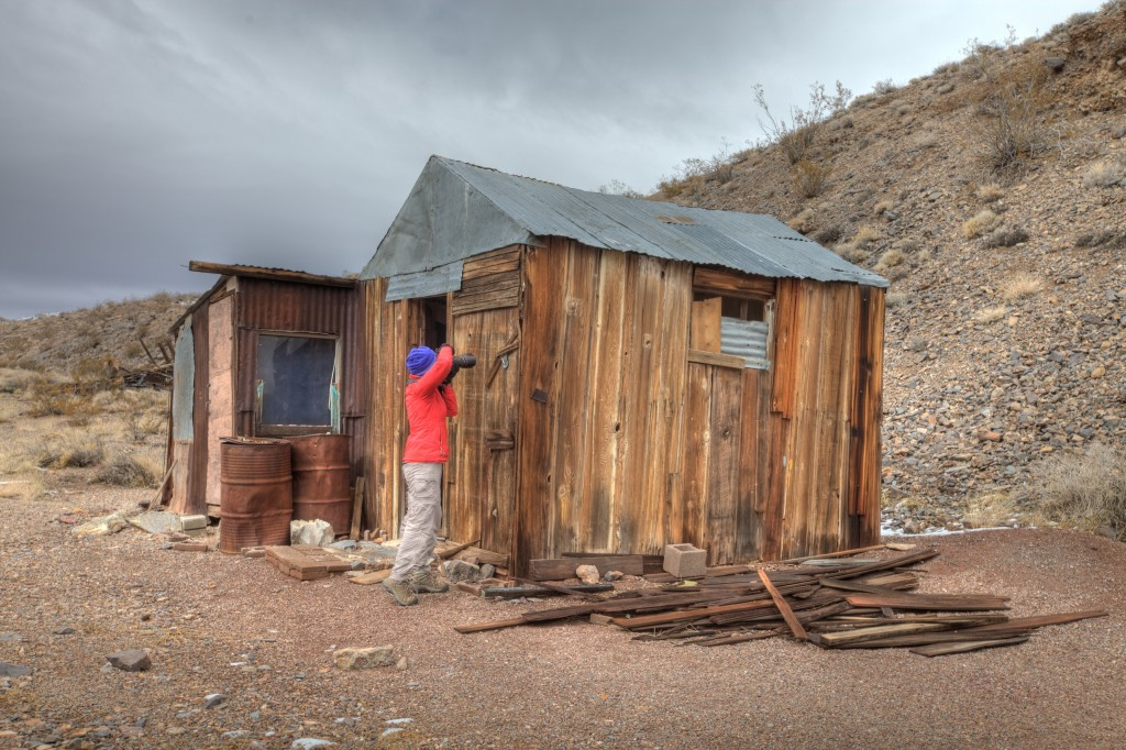 Penelope Photographing The Cabin At Tucki Mine In Death