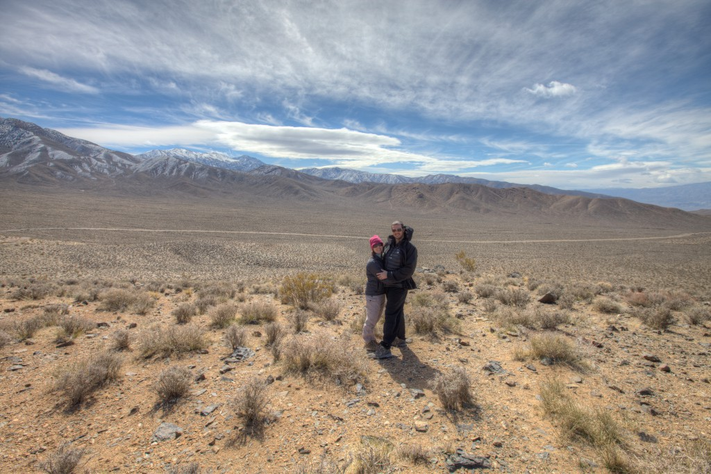 Penelope and Dave in Death Valley