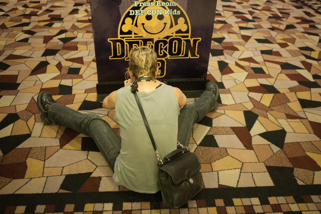 Photographing a Defcon Sign
