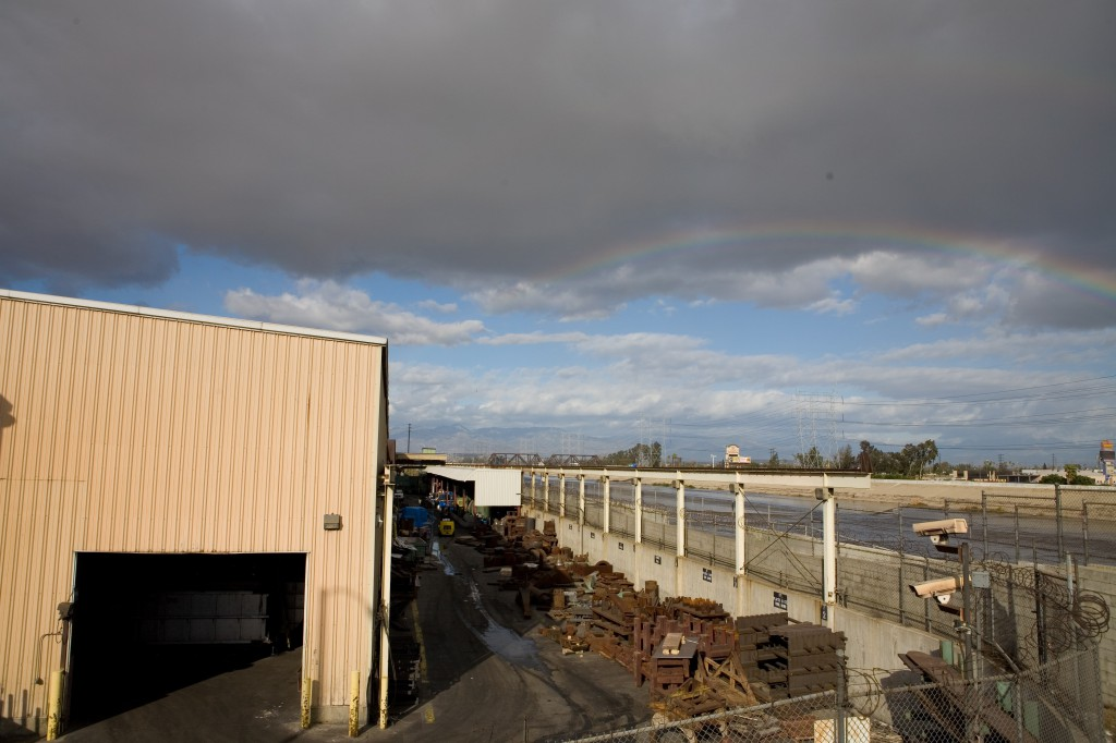 Rainbow Over Steel Yard