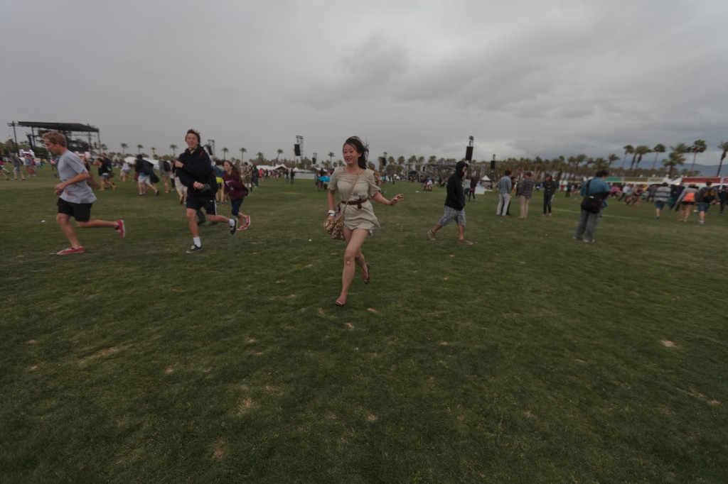Running from the Rain at Coachella