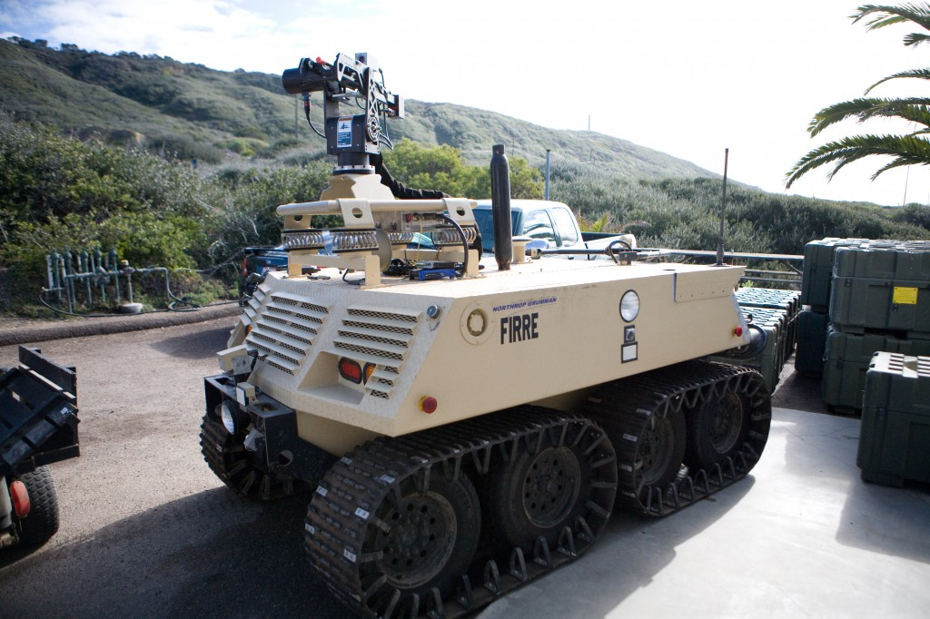 SPAWAR FIRRE Autonomous Fighting Vehicle