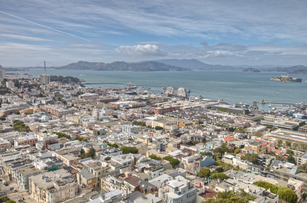 San Francisco Bay from Coit Tower