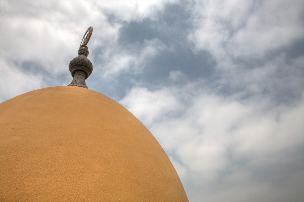 Shrine Minaret Top and Sky