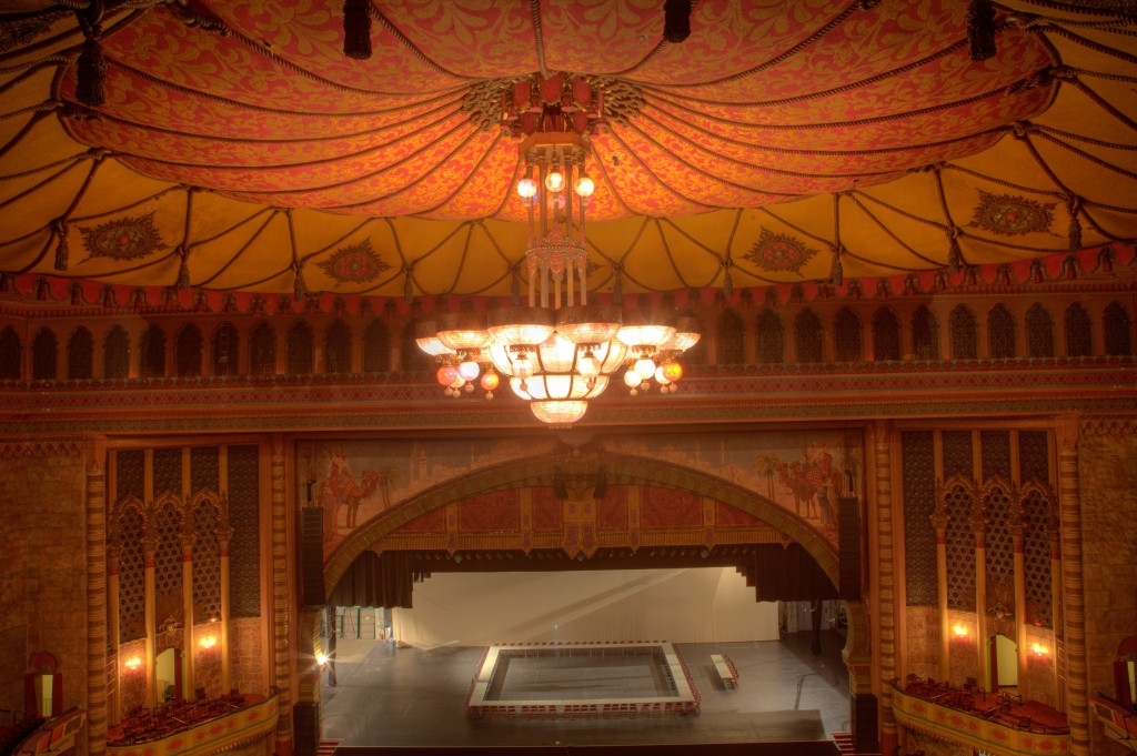 Shrine Stage and Chandelier