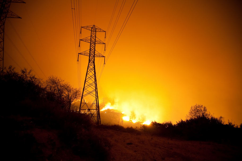 Station Fire and High-Tension Powerlines