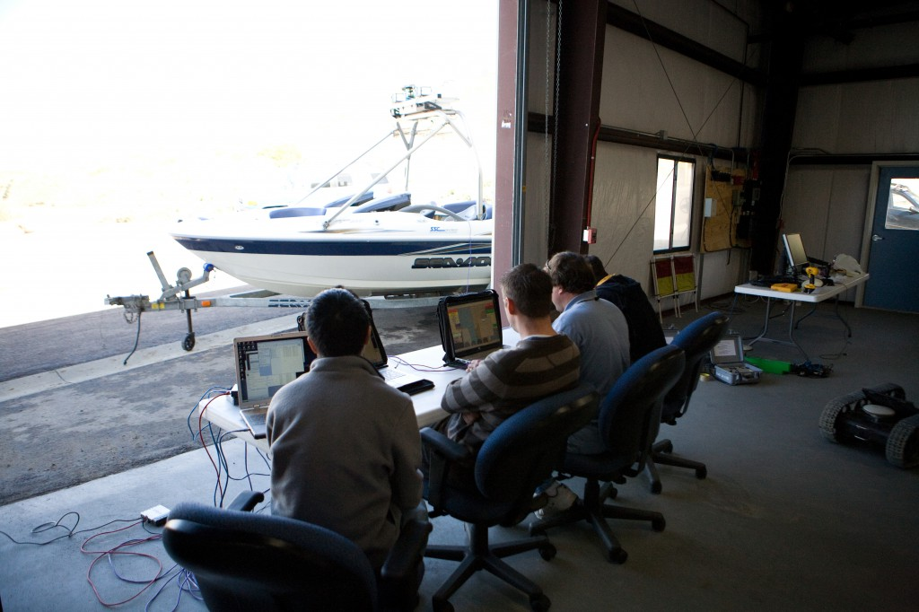 Technicians Working on USV at SPAWAR