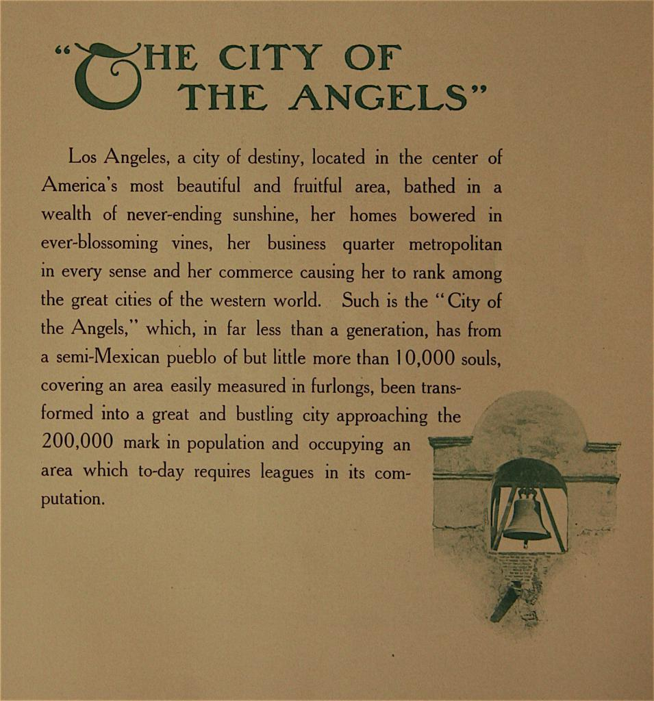 The City of The Angels : Los Angeles fro