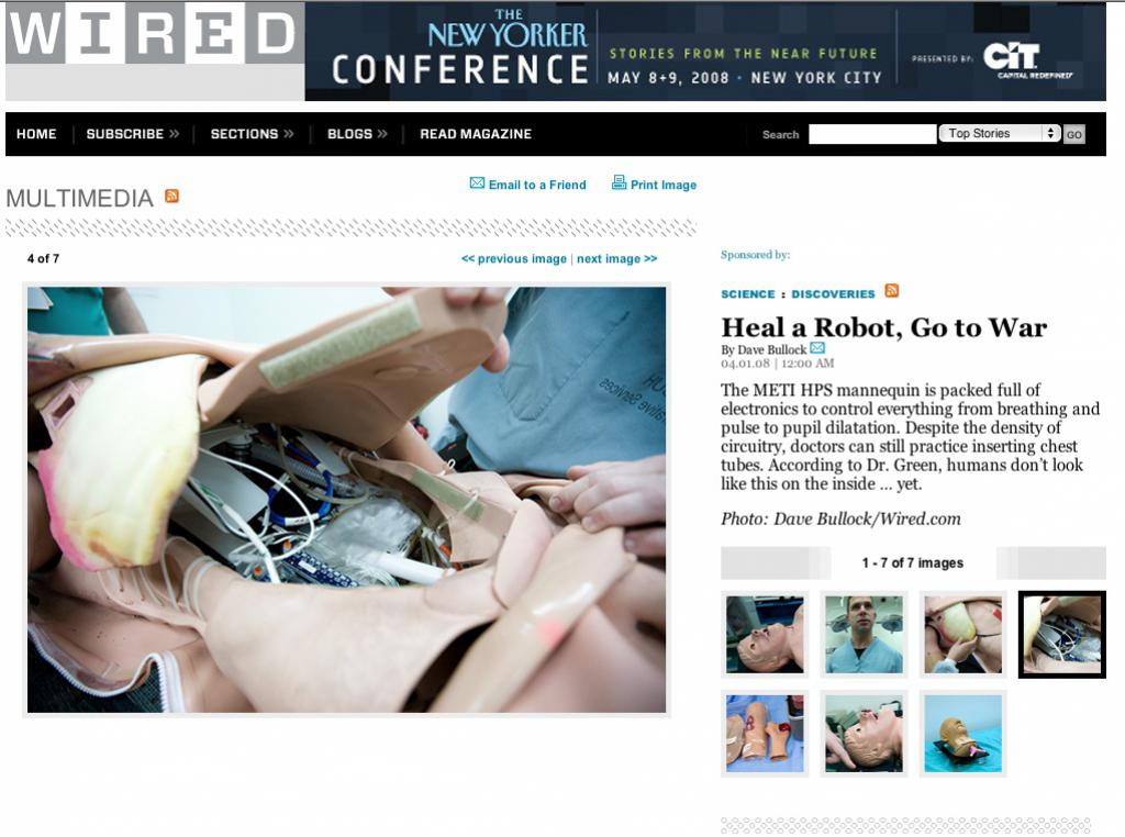 USC Surgical Skills Center : Iraq Training on WIRED News
