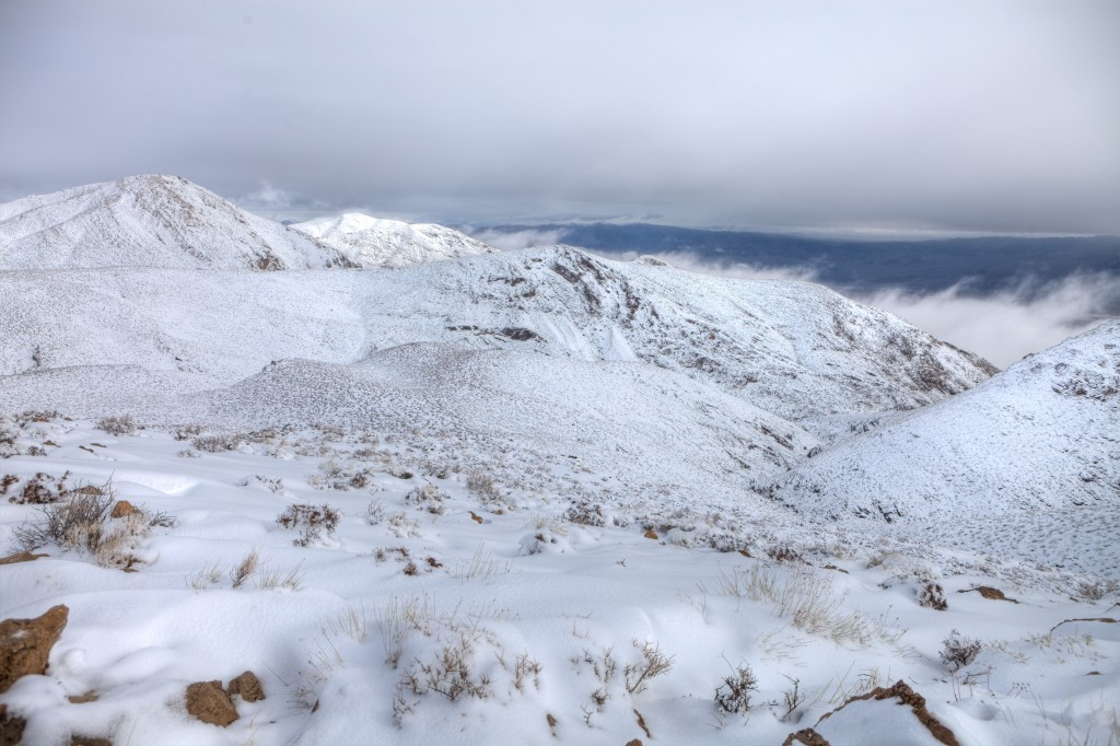View of Snowy Death Valley from Skidoo Lookout