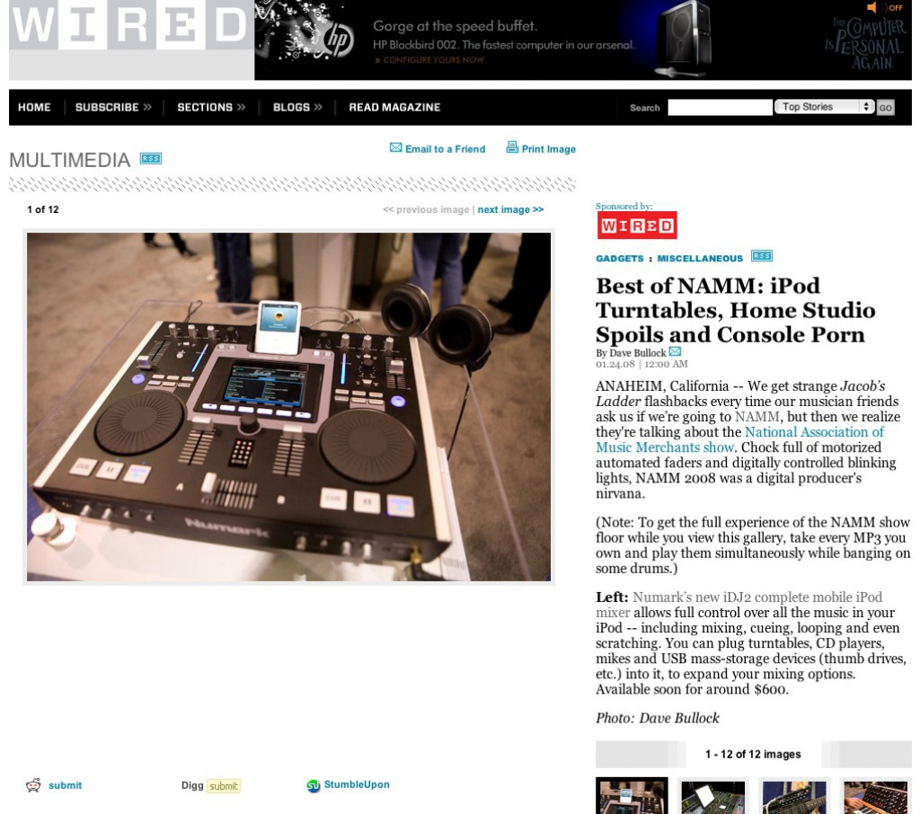 WIRED News NAMM Gallery