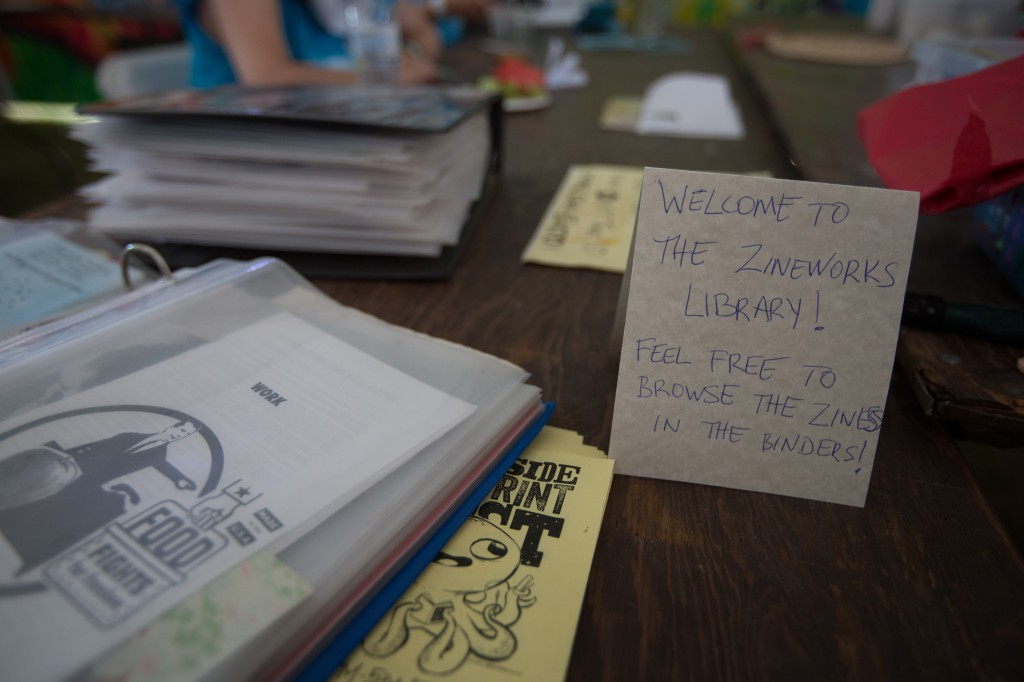 Zineworks Library at Coachella