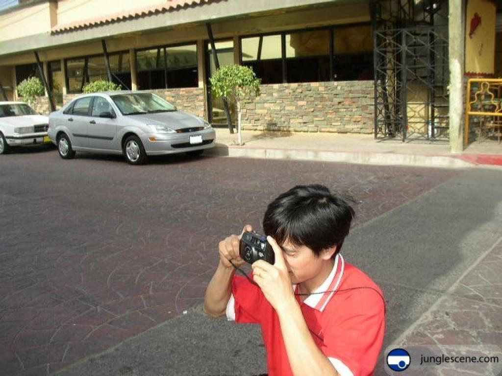 metaphoto of chinese tourise in mexico