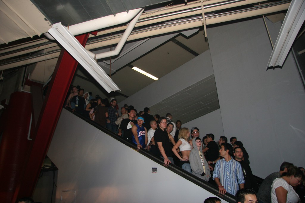 packed escalators