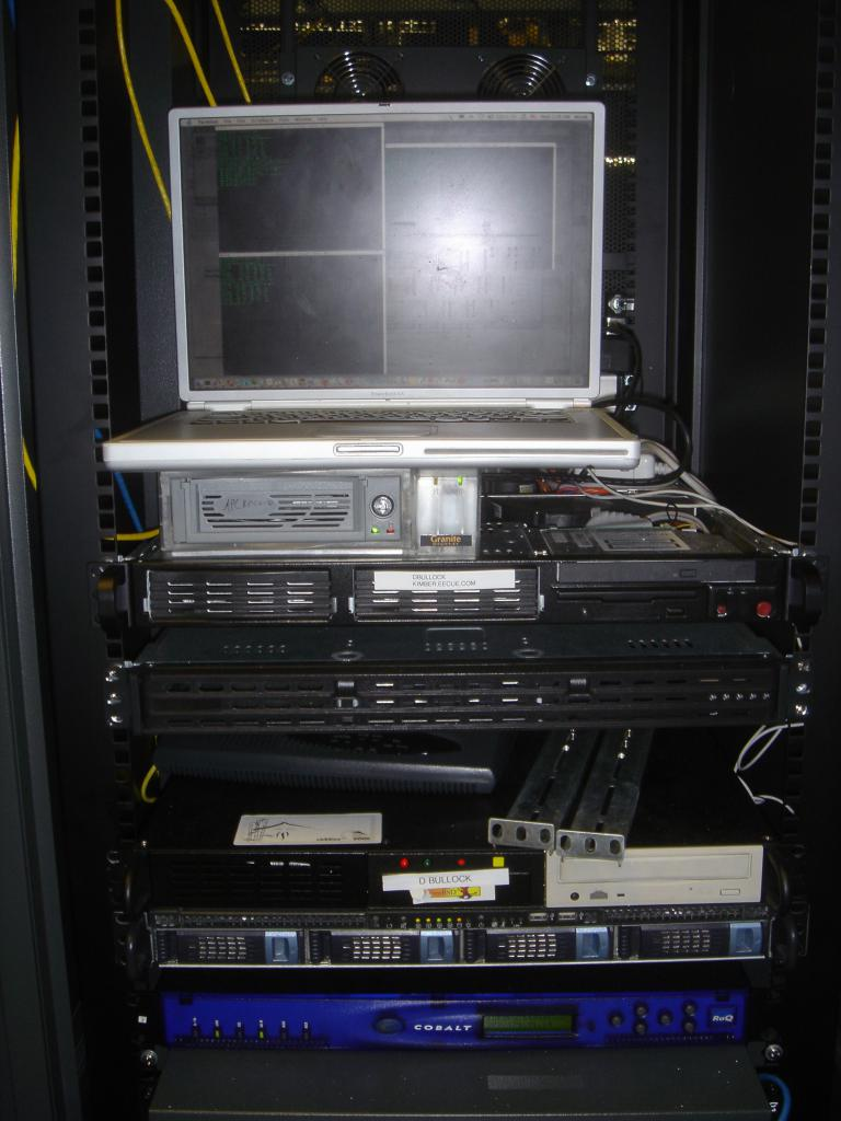 the servers and my laptop