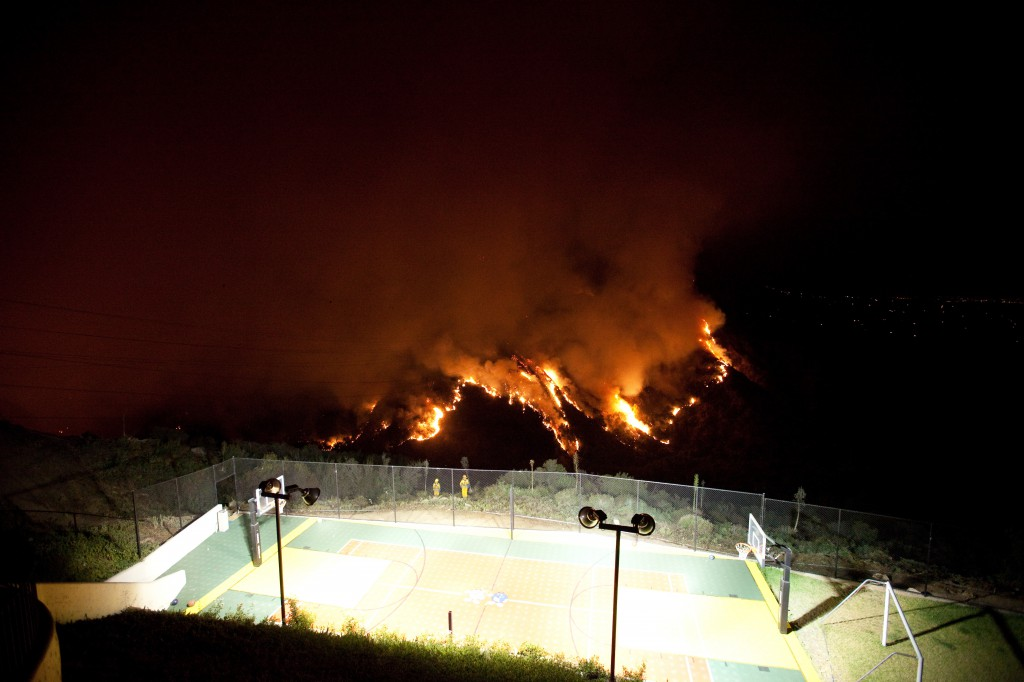 Basketball Court Above the Station Fire