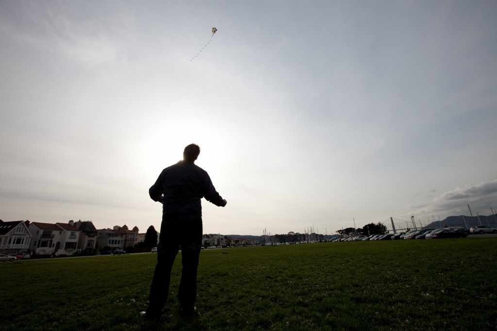 Dave Flying a Kite