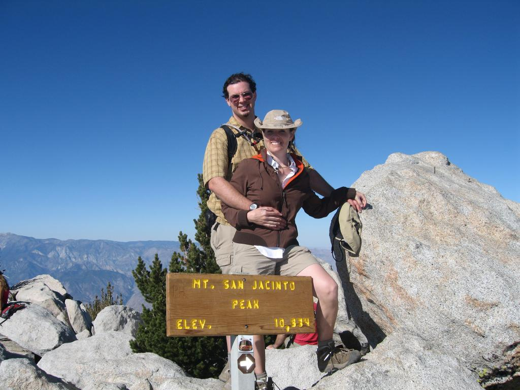 Dave and Penelope Atop Mt. San Jacinto P